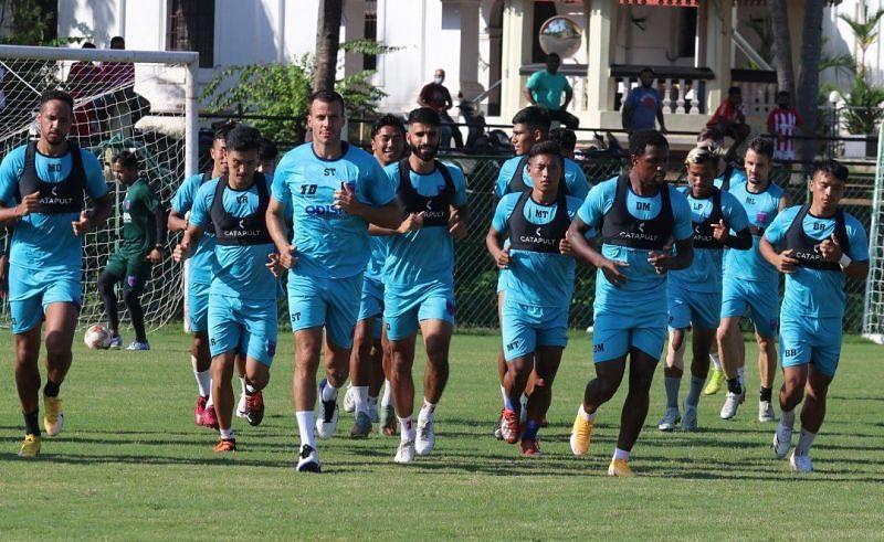 Odisha FC players training