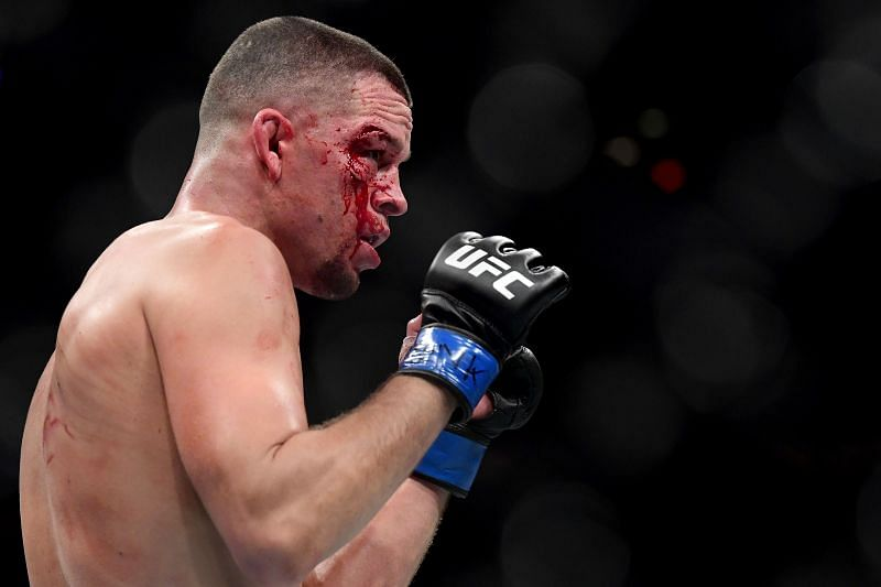 Nate Diaz of the United States