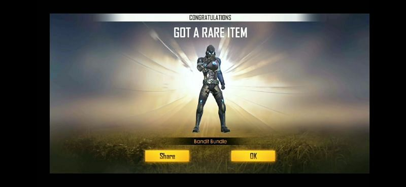 The Bandit Bundle in Free Fire