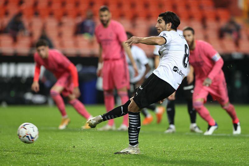 Carlos Soler scored a hat-trick of penalties