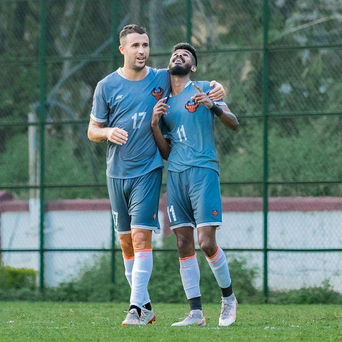 FC Goa players during a pre-season friendly ahead of ISL 2020-21