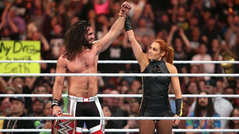 The real-life relationship between Seth Rollins and Becky Lynch was turned into an angle on WWE television