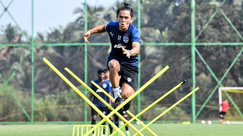 A glimpse of the Bengaluru FC training session (Image credits: Bengaluru FC Twitter)