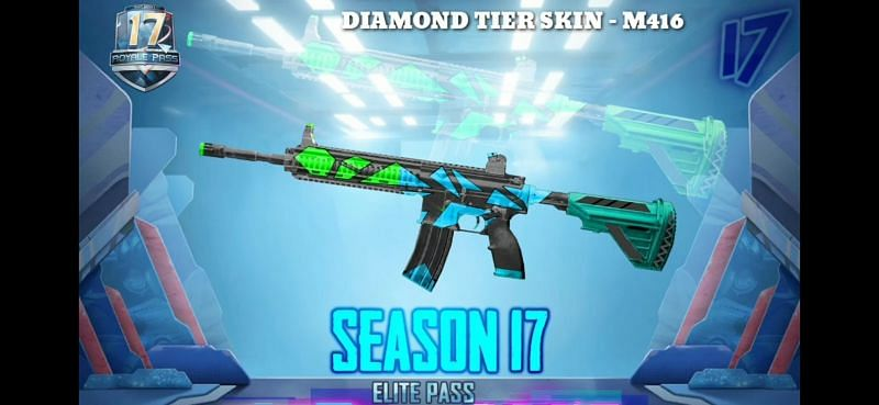 PUBG Mobile Season 17 Royale Pass Rewards- Diamond Tier Weapon Skins   Image credit ShooterYT