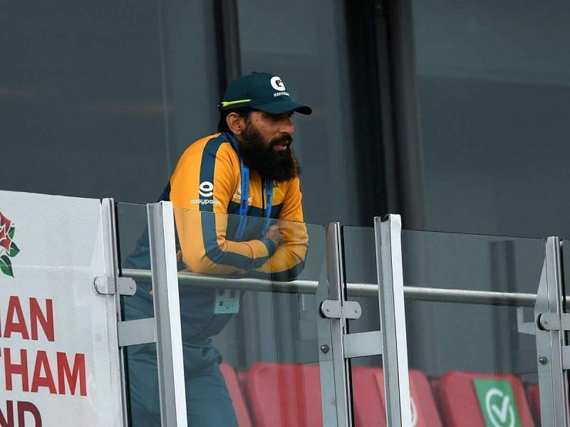 A dejected Misbah ul-Haq following defeat to England in Southampton