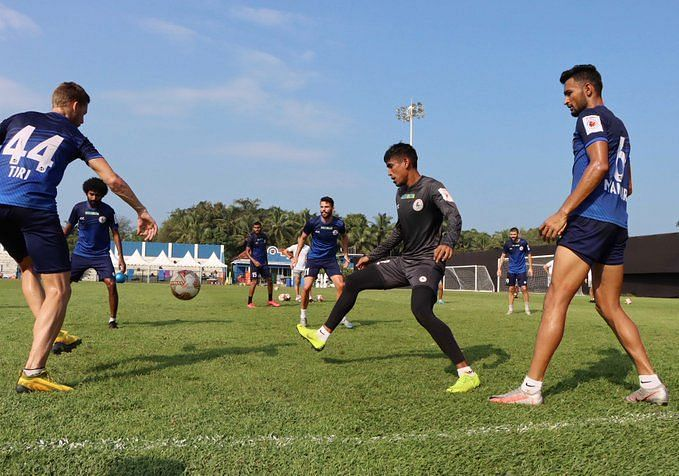 ATK Mohun Bagan players during a training session (Image credits: ATK Mohun Bagan Twitter)