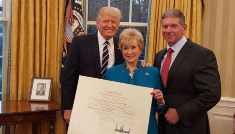 Donald Trump, Linda McMahon and Vince McMahon