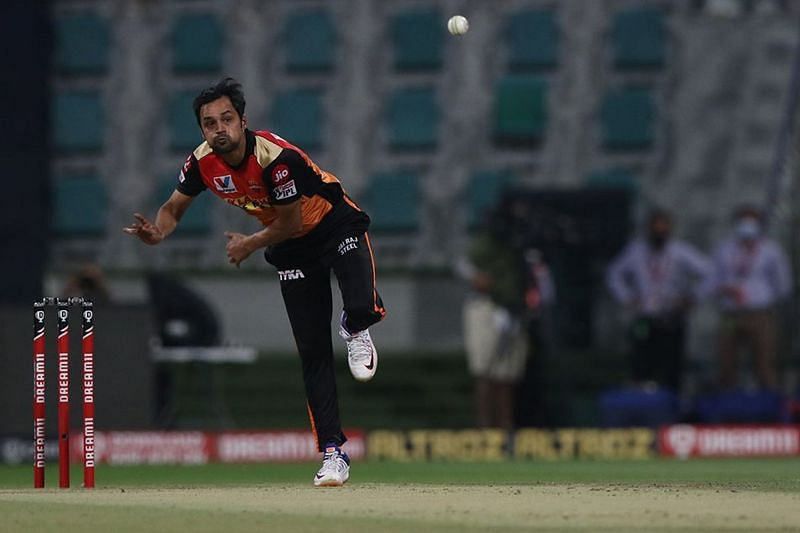 Shahbaz Nadeem was a letdown, in sharp contrast with his returns so far. [PC: iplt20.com]
