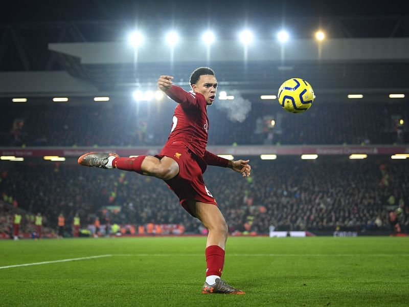 Liverpool star Alexander-Arnold in action
