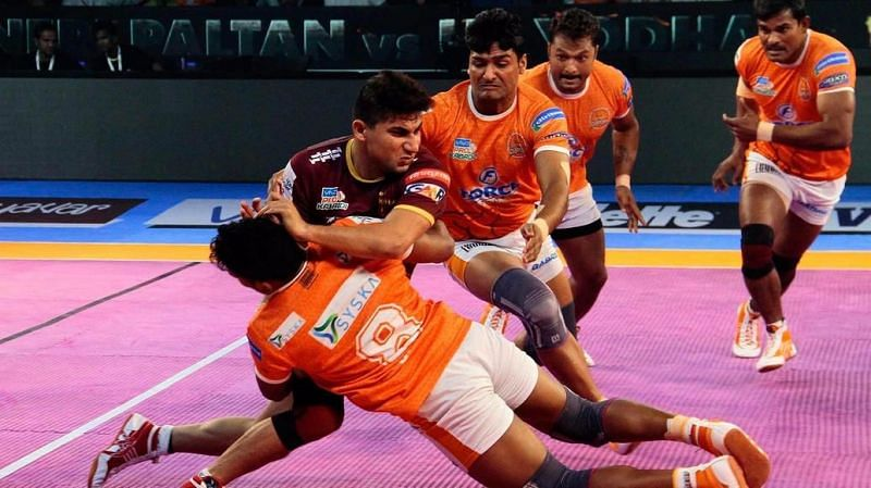 Nitin Tomar played for UP Yoddha in the fifth edition of the Pro Kabaddi League