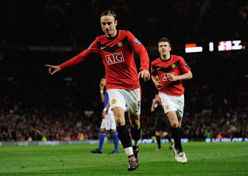 Berbatov in action for Manchester United
