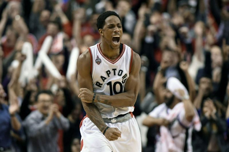 DeMar DeRozan with the Toronto Raptors