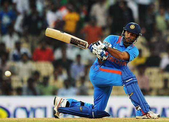 Yuvraj Singh in action.