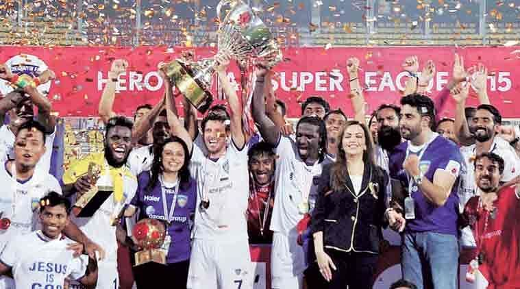 Chennaiyin FC beat Goa 3-2 in Goa to win the 2015 ISL trophy (Picture credit: ISL)