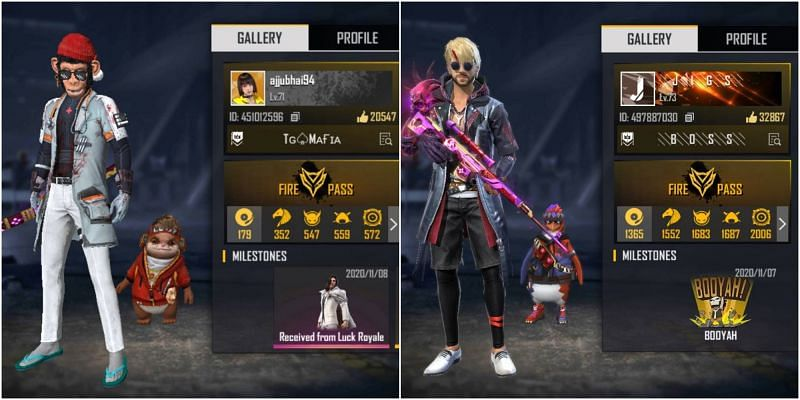 Ajjubhai vs JIGS: Who has the better stats in Free Fire?