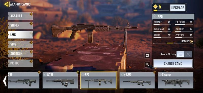 LMGs in COD Mobile