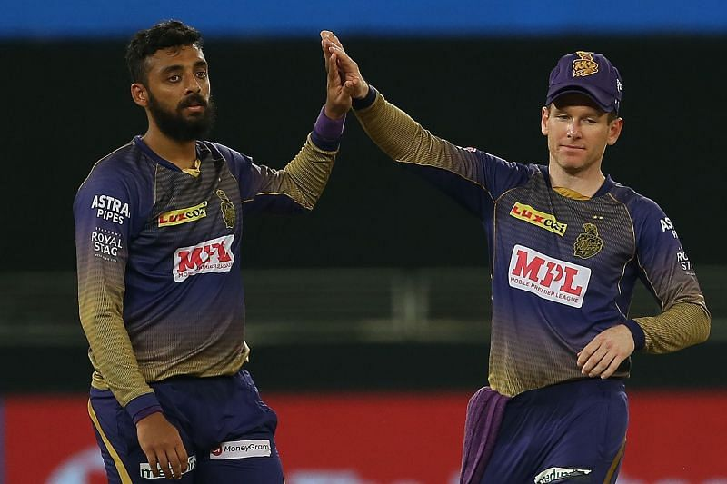 Varun Chakravarthy represented the Kolkata Knight Riders in IPL 2020.