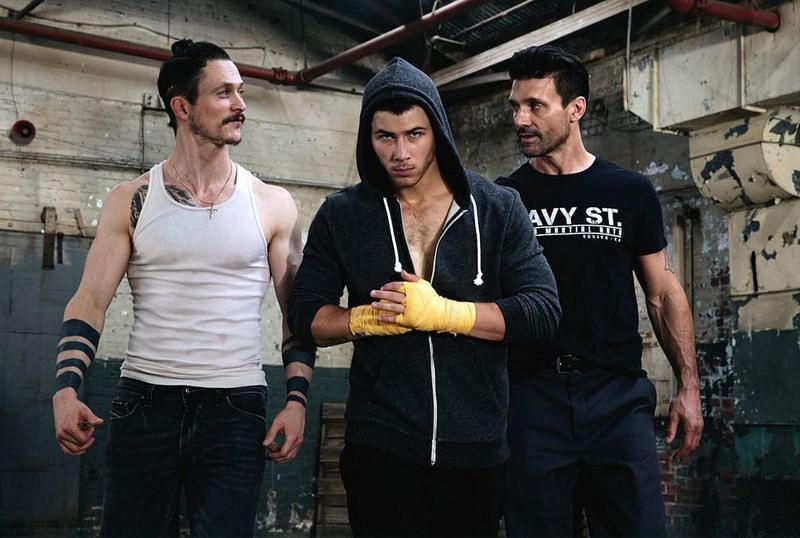 Jonathan Tucker, Nick Jonas, and Frank Grillo (L-R) in
