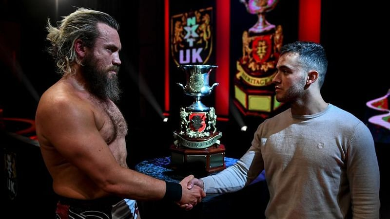 Trent Seven advanced to the finals of the NXT UK Heritage Cup finals
