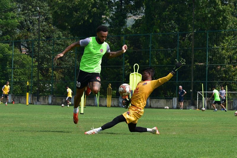 SC East Bengal players during a training session (Image courtesy: SC East Bengal Twitter)