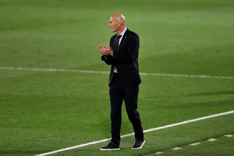 Real Madrid coach Zinedine Zidane