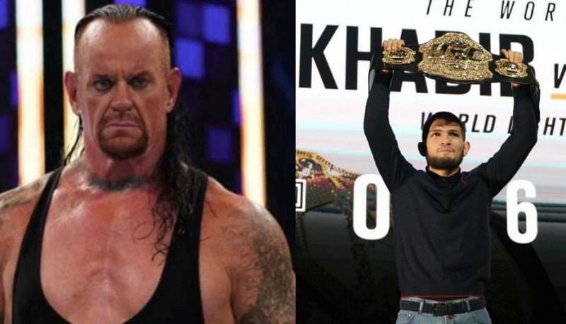 The Undertaker and Khabib Nurmagomedovthe under