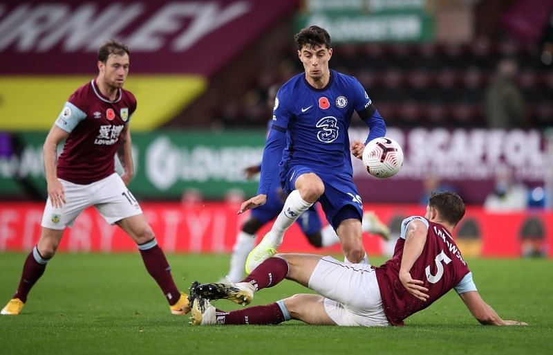 Havertz was in action at Turf Moor