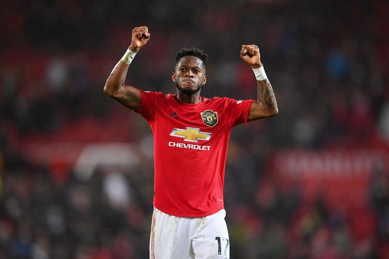 Fred in action for Manchester United