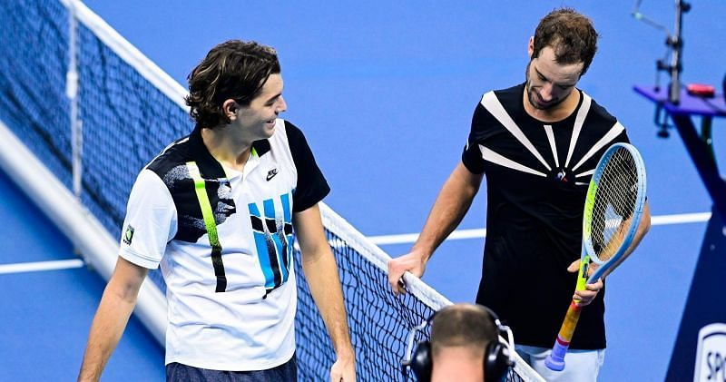 Richard Gasquet beat Taylor Fritz at UTS 3 to reach the final of the exhibition tournament