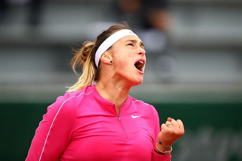 Aryna Sabalenka at the 2020 French Open
