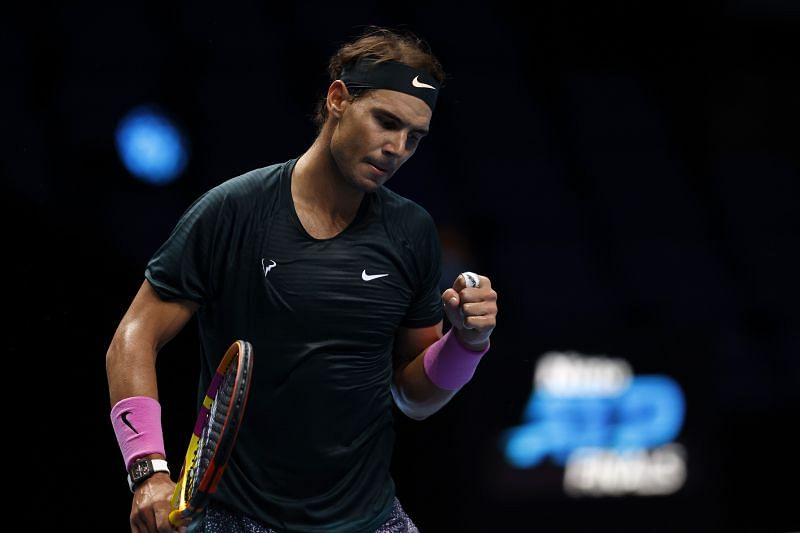 Rafael Nadal at the Nitto ATP Finals 2020