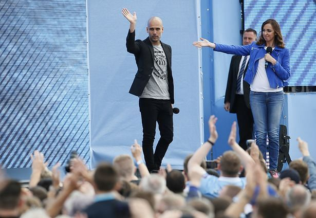 Pep Guardiola during his unveiling as the new Manchester City manager in 2016