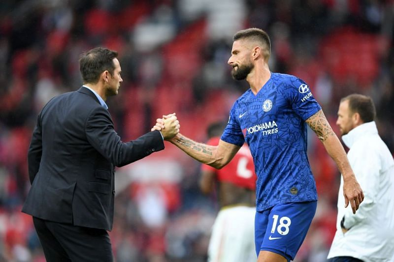 Olivier Giroud has been on the fringes of the Chelsea squad this season