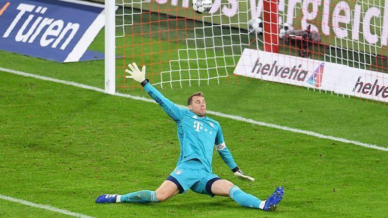 Manuel Neuer was beaten twice but stopped Borussia Dortmund from scoring more.