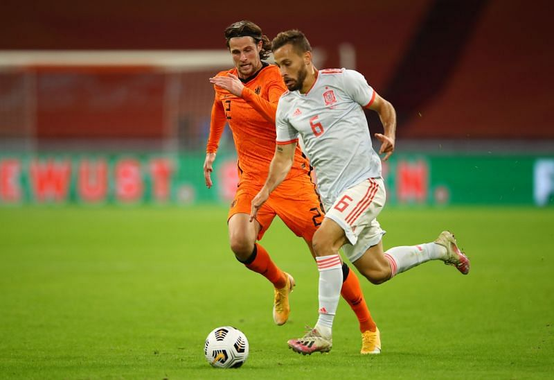 Sergio Canales scored his first goal for Spain