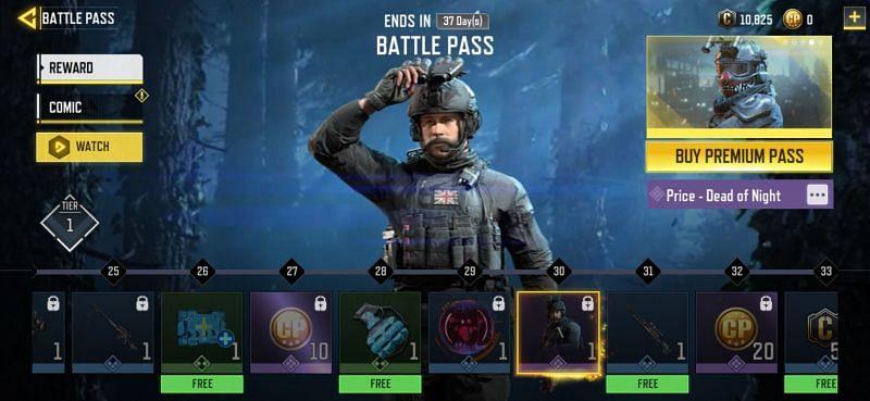 Season 12 Battle Pass COD Mobile