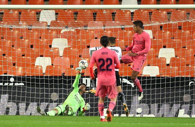 Varane scored an own goal against Valencia