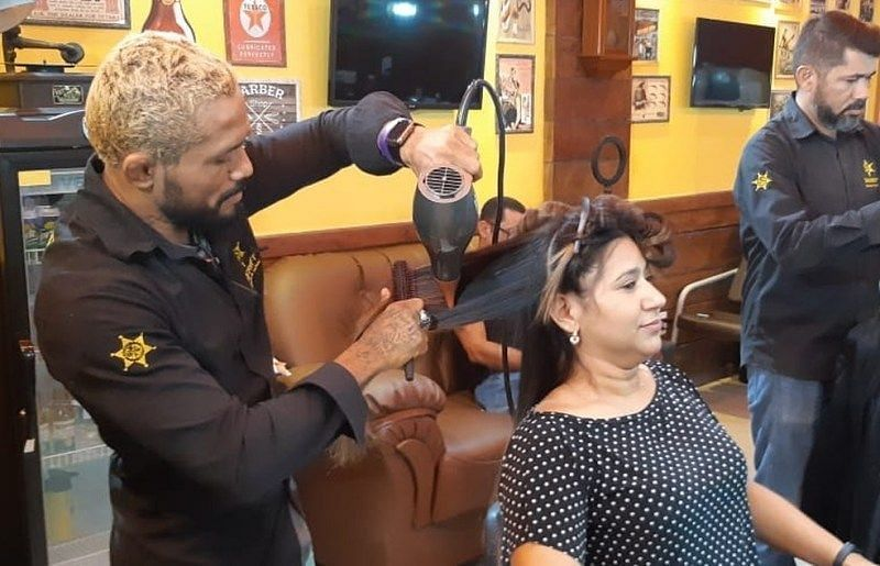 Prior to becoming a UFC star, Deiveson Figueiredo worked as a hairdresser.