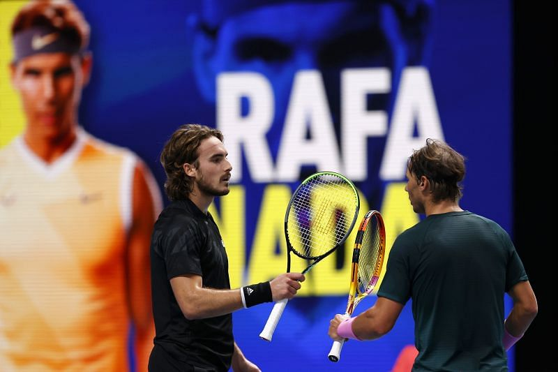 Rafael Nadal after defeating Stefanos Tsitsipas