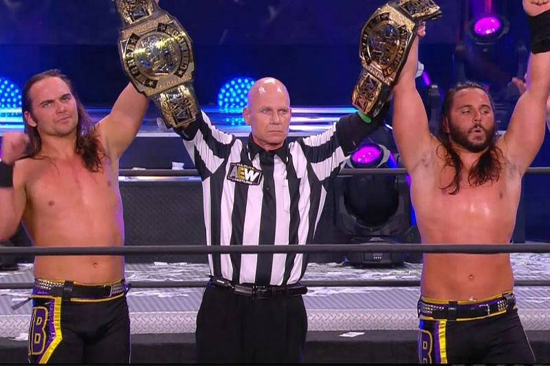 The Young Bucks, Matt and Nick Jackson won the AEW World Tag Team titles at Full Gear, now Matt opens up more about his current MCL injury.