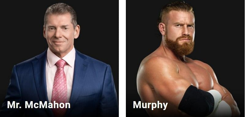 Murphy is listed right next to WWE Chairman Mr. McMahon