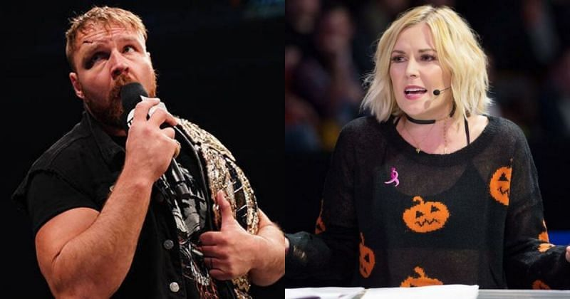 Jon Moxley and Renee Young.