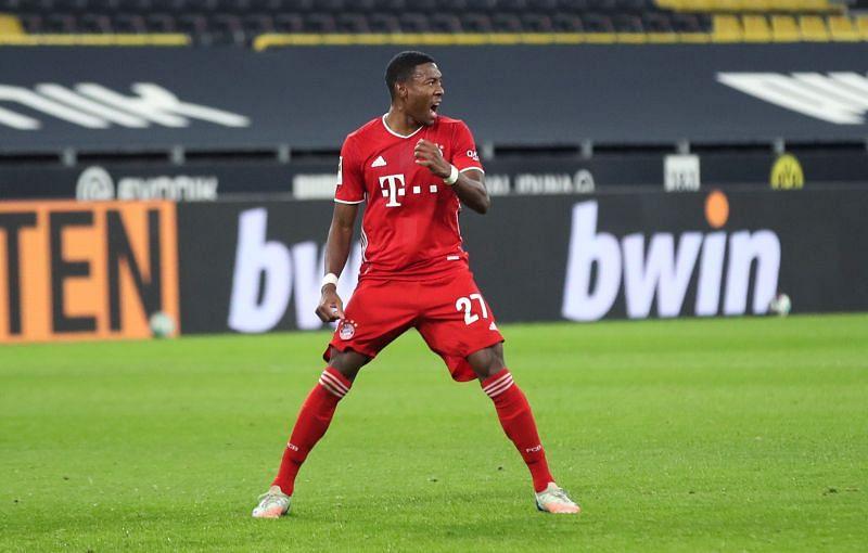 David Alaba in action for Bayern Munich