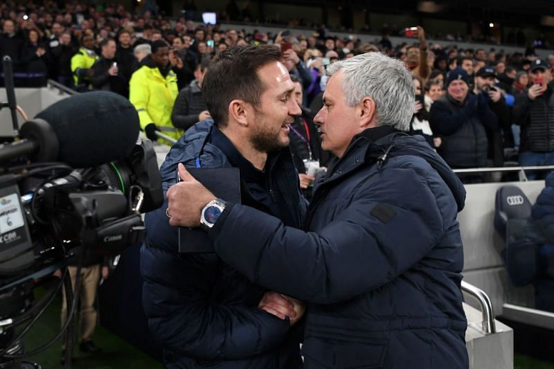 Frank Lampard (left) and Jose Mourinho (right)