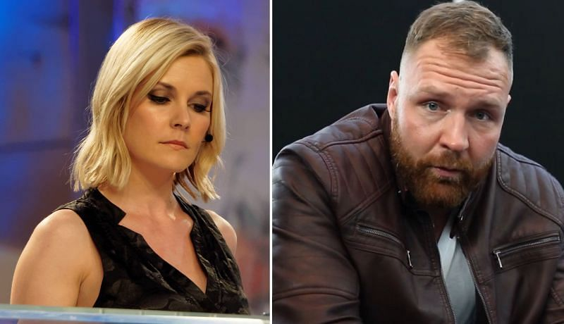 Renee Young and Jon Moxley