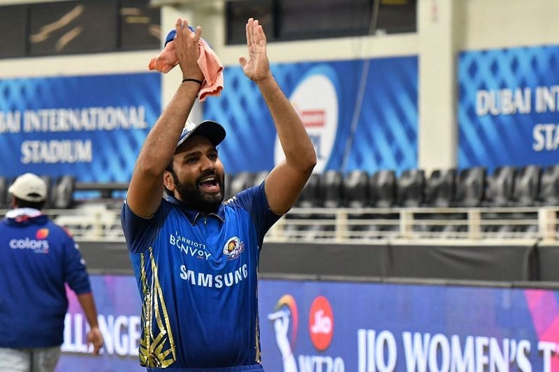 Rohit Sharma after winning the Qualifier 1 against DC (Credits: IPLT20.com)
