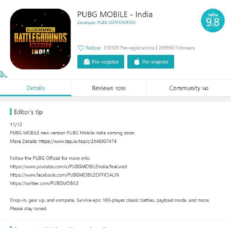 PUBG Mobile - India on TapTap
