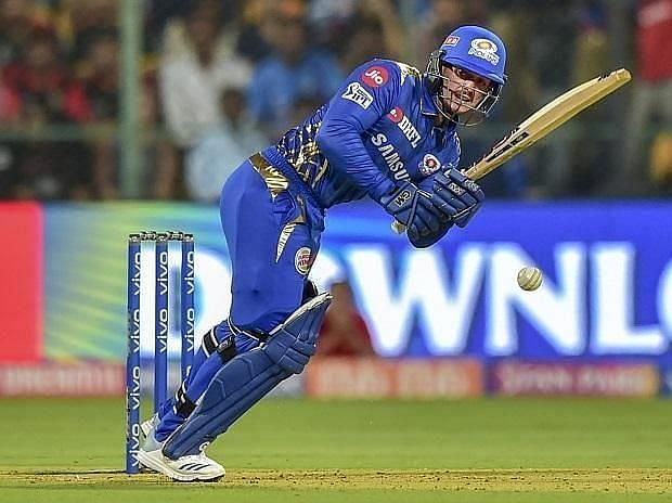 Quinton de Kock in action for MI in IPL 2020