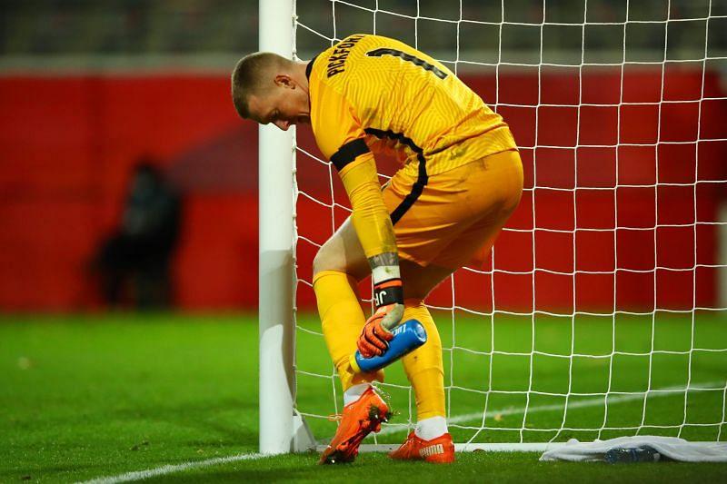 Jordan Pickford was beaten twice in the England goal