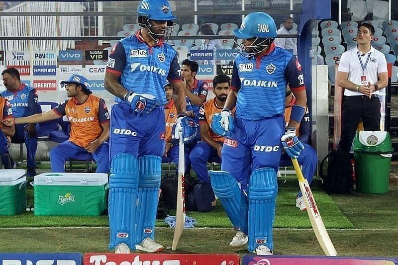 Shikhar Dhawan with Prithvi Shaw open for DC.